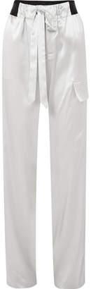 Tom Ford Silk-blend Charmeuse Track Pants - Blue