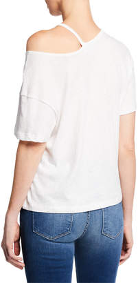 Frame Chopped Cutout Cotton T-Shirt