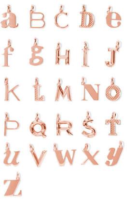 Monica Vinader A-z Alphabet Letter Rose Gold Vermeil Pendants