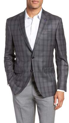 Ted Baker Jay Trim Fit Windowpane Wool Sport Coat