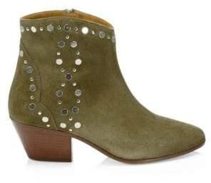 Isabel Marant Dacken Embellished Suede Ankle Boots