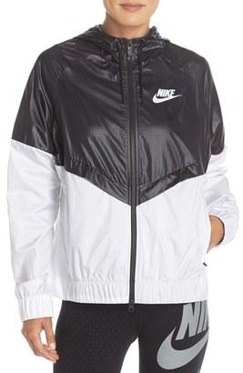 Women's Nike 'Windrunner' Hooded Windbreaker Jacket $90 thestylecure.com
