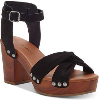 7ee45de33bb at Macy s · Lucky Brand Whitneigh Wooden Platform Sandals Women s Shoes