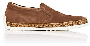 Tod's MEN'S SUEDE ESPADRILLE SNEAKERS-MED. BROWN SIZE 8 M