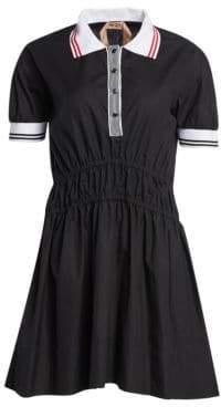 No.21 No. 21 Polo Collar A-Line Dress