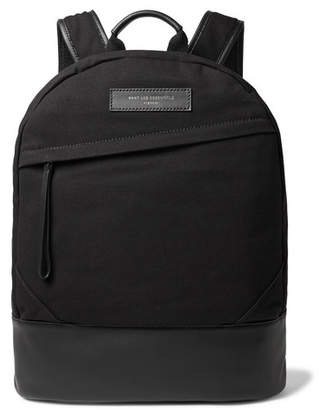 WANT Les Essentiels Kastrup Leather-Trimmed Organic Cotton-Canvas Backpack - Black