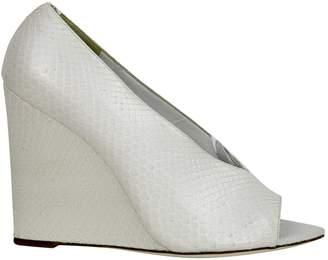 Burberry White Python Heels
