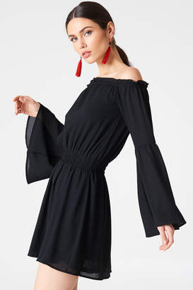 Na Kd Boho Wide Sleeve Off Shoulder Dress