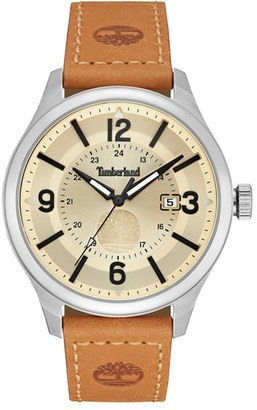 Timberland 'Blake' Leather Strap Watch, 46Mm $129 thestylecure.com