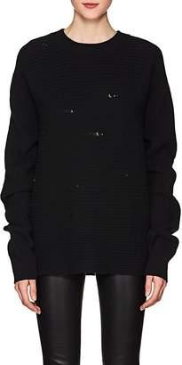 Helmut Lang Women's Distressed Wool Sweater