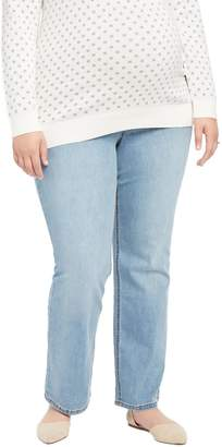 Motherhood Maternity Jessica Simpson Plus Size Secret Fit Belly Boot Maternity Jeans- Light Wash
