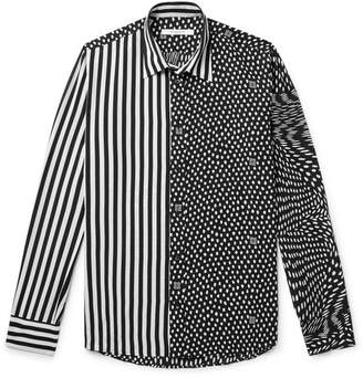 Givenchy Printed Matte-Satin Shirt - Black
