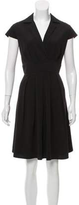 Calvin Klein Collection Pleated Knee-Length Dress Black Pleated Knee-Length Dress