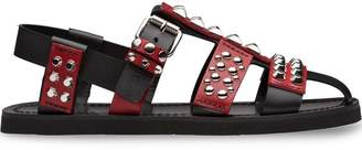Prada studded bi-colour sandals