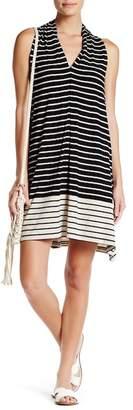 Max Studio Striped V-Neck Dress