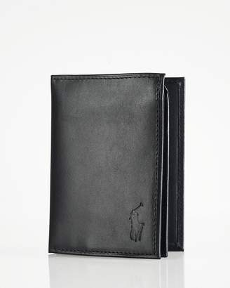 Polo Ralph Lauren Burnished Leather Window Billfold Wallet