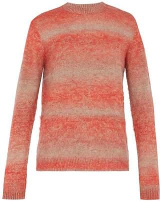 Acne Studios Kamal Brushed Melange Sweater - Mens - Red