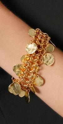 Kenneth Jay Lane Coin Drop Bracelet