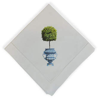 Topiary Dinner Napkin - White - The French Bee