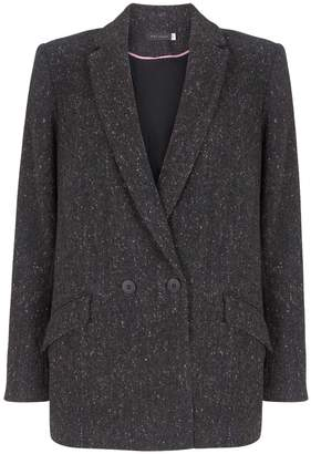Next Womens Mint Velvet Grey Charcoal Double Breast Blazer