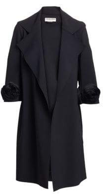 Chiara Boni Women's Margit Rose Trench Coat - Black - Size 4