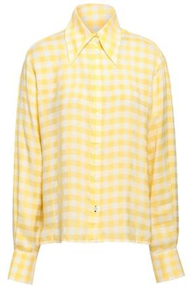 Joseph Gingham-jacquard Shirt