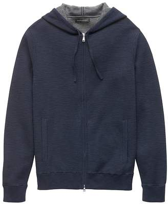 Banana Republic Cotton Textured Full-Zip Sweater Hoodie