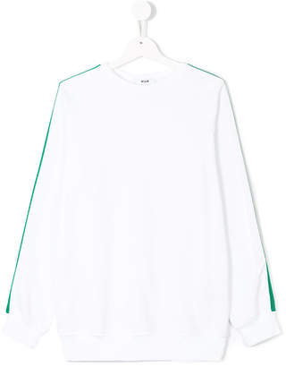 MSGM contrast panel sweatshirt