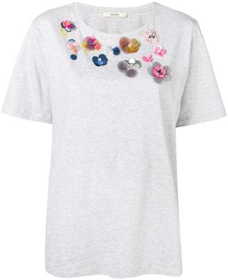Odeeh flower embellished T-shirt