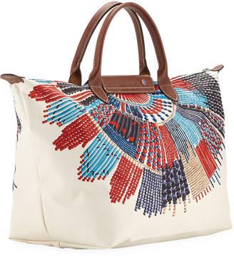 af37f0f481d2 ... Longchamp Le Pliage Collier Massai Medium Top Handle Bag