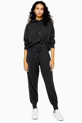 Topshop Womens 100% Cashmere Joggers - Charcoal
