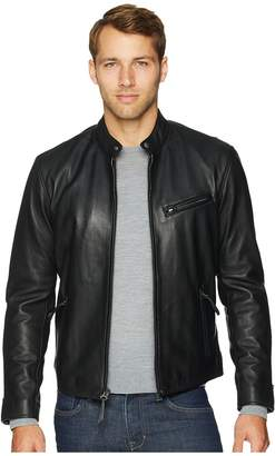 Polo Ralph Lauren Cafe Racer Leather Jacket Men's Coat