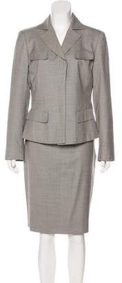 Akris Wool Knee-Length Skirt Suit