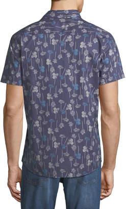 Slate & Stone Dandelion-Print Short-Sleeve Sport Shirt