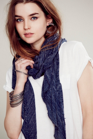 Free People Lightweight Jersey Scarf