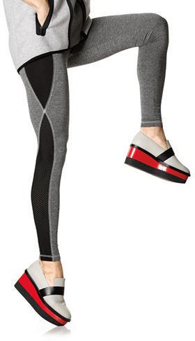 Hue Mesh Panel Active Leggings
