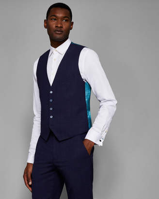 Ted Baker VIDEBW Slim fit checked vest