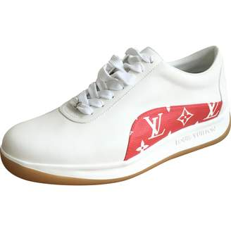 Leather low trainers