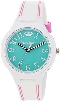 Juicy Couture Women's 'DAY DREAMER' Quartz Plastic and Silicone Casual Watch, Color:White (Model: 1901564) $59.01 thestylecure.com