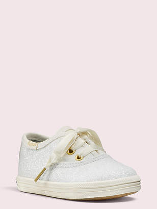 Kate Spade Keds Kids X Champion Glitter Crib Sneakers, Cream - Size 1