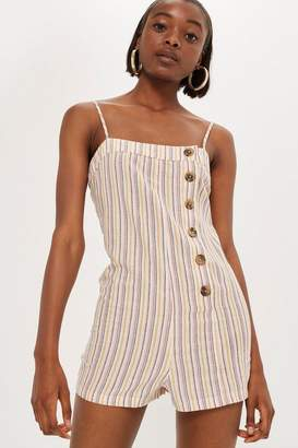 Topshop Candy Striped Romper Playsuit