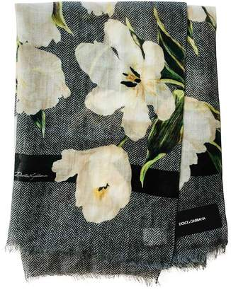 Dolce & Gabbana Grey Cashmere Scarves