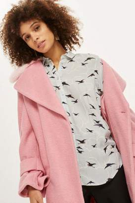 Topshop Birds And Clouds Casual Shirt