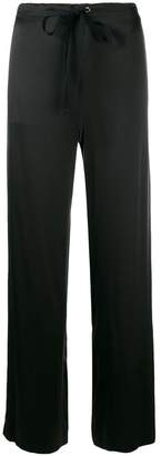 Theory drawstring wide leg trousers