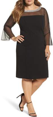 Alex Evenings Embellished Illusion Shift Dress