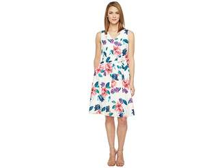 Ellen Tracy Seamed V-Neck Dress Women's Dress