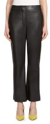 Alberta Ferretti Faux Leather Flare Pants