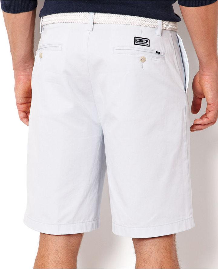 Nautica Shorts, Cotton Twill Flat Front Shorts
