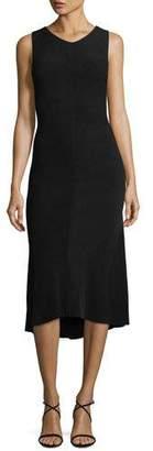 Narciso Rodriguez Sleeveless Knit Godet Dress