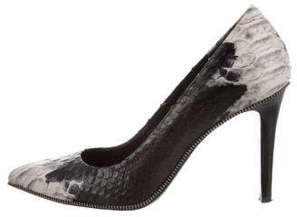 The Kooples Embossed Leather Pointed-Toe Pumps